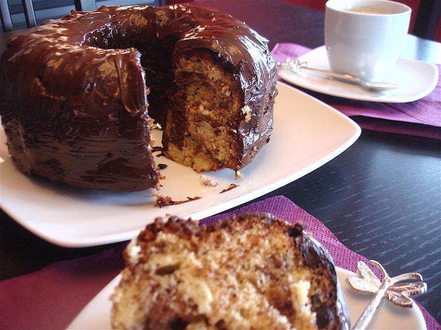 Bizcocho marmol o marmolado con chocolate sin lactosa