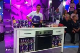 Chef Orielo cocina en directo en Sálvame de Telecinco