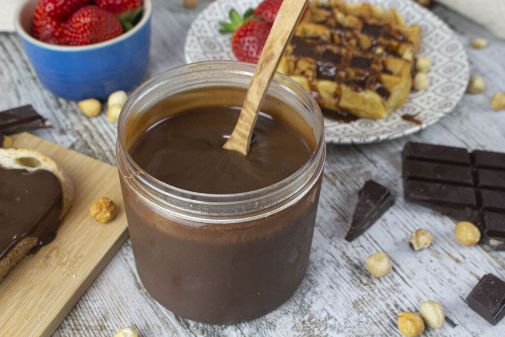 Nutella casera o nocilla sin lactosa