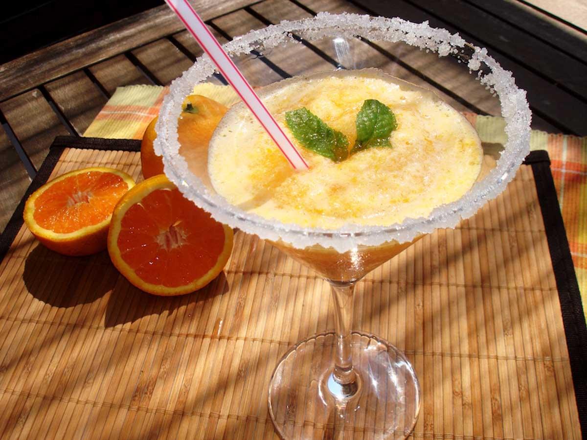 Sorbete de naranja sin lactosa