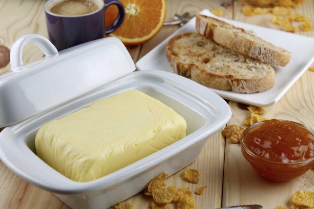 mantequilla sin lactosa casera