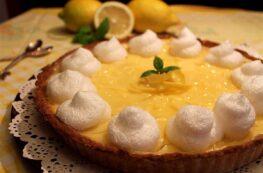 Tarta de limón y merengue sin lactosa (lemon pie)