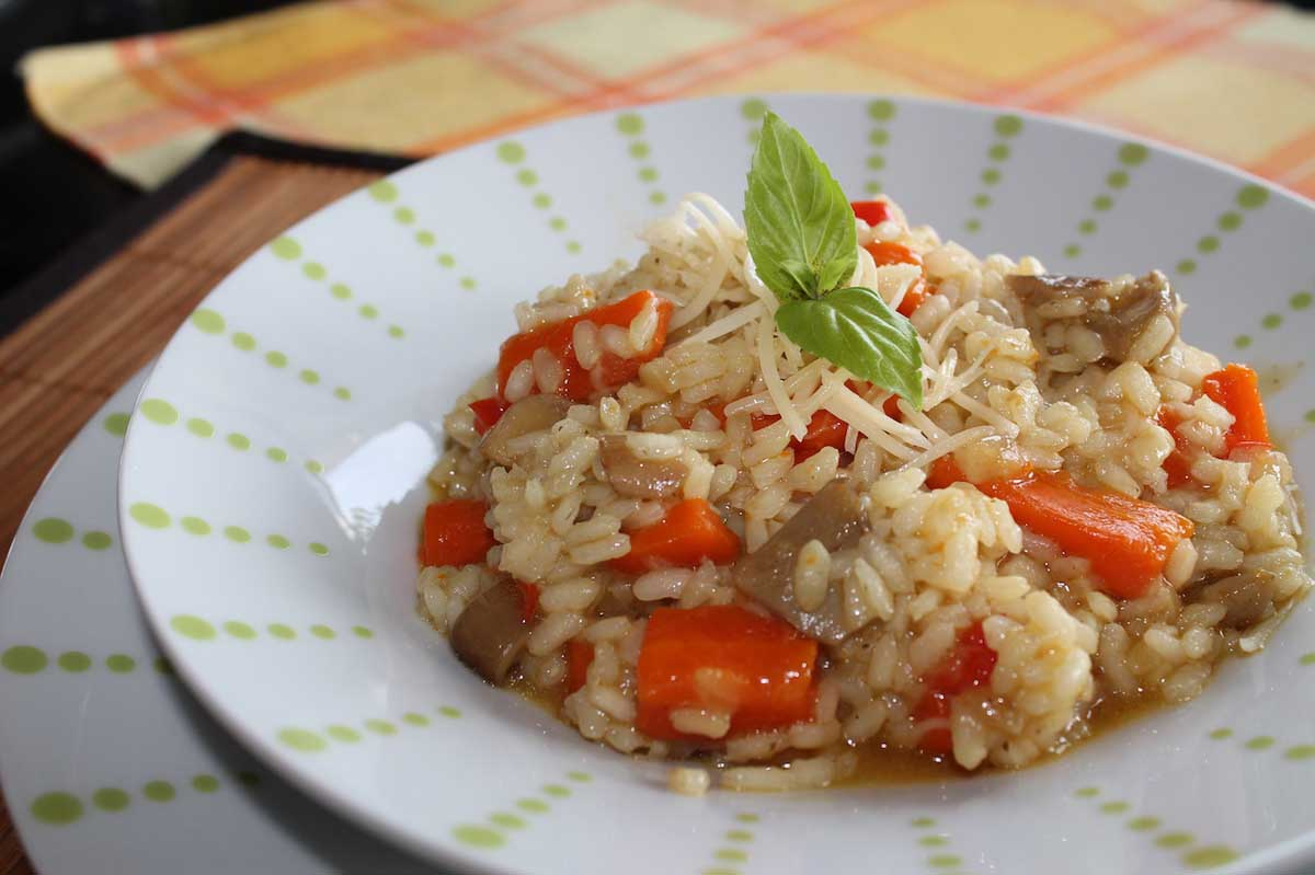 Risotto de setas y verduras con curry vegetariano y sin for Como cocinar risotto de setas