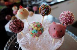 Cake Pops de animalitos sin lactosa