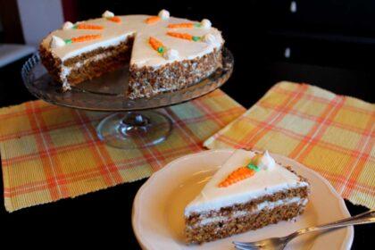 Tarta de zanahorias sin lactosa Carrot Cake