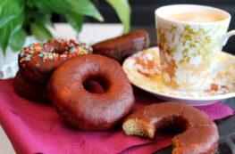 Donuts de chocolate sin lactosa