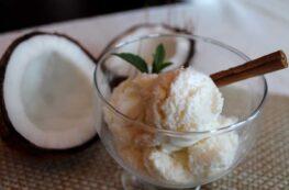 Helado de coco sin lactosa