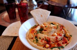 Hummus de garbanzos árabe