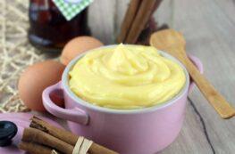Crema pastelera sin lactosa