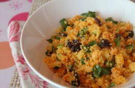Cuscús marroquí con verduras y pasas