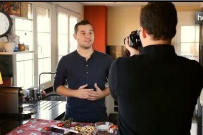Chef Orielo grabando Historia de Luz Canal Sur