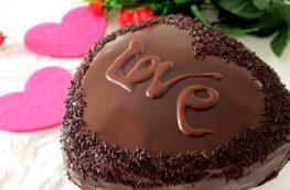 Tarta corazón de chocolate y trufa San Valentín