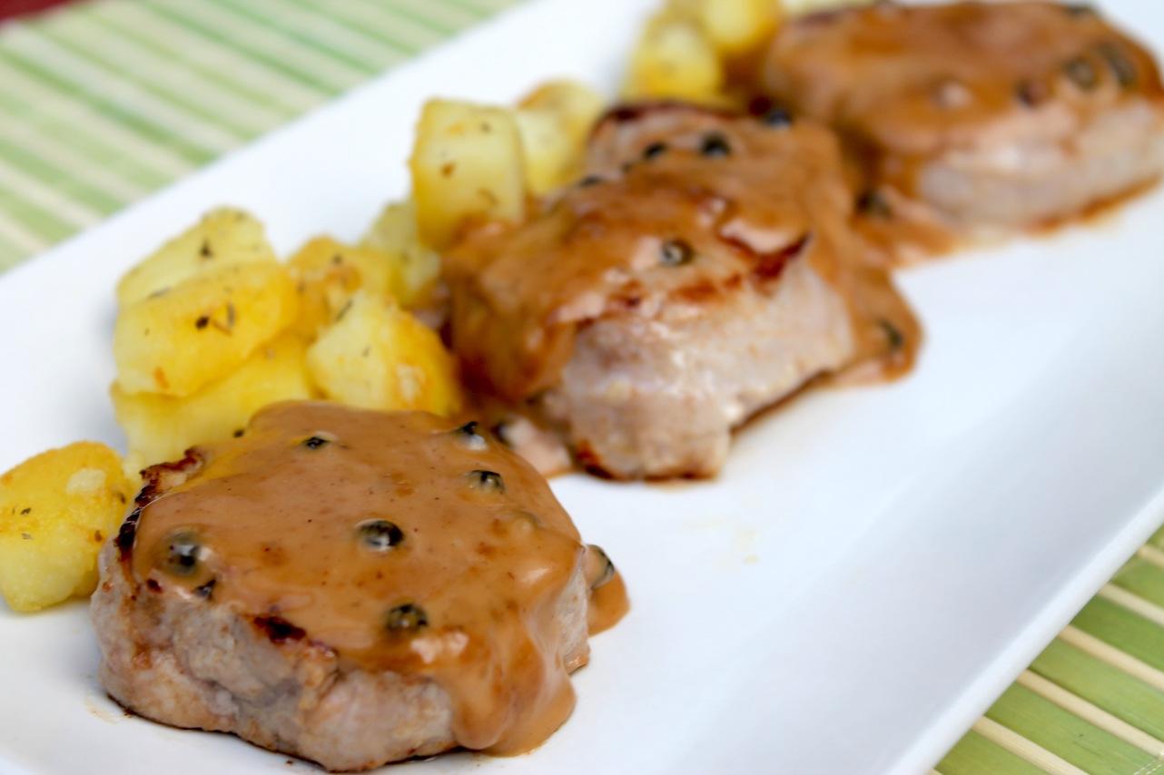 Solomillo de cerdo a la pimienta sin lactosa