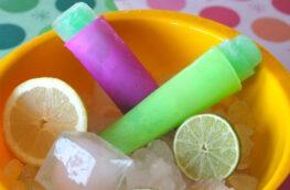 Polos Calippo de lima limón casero