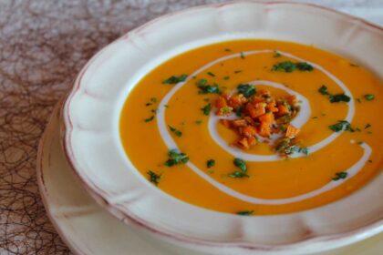 Crema de zanahorias sin lactosa