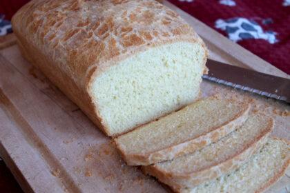 Pan de molde sin lactosa casero