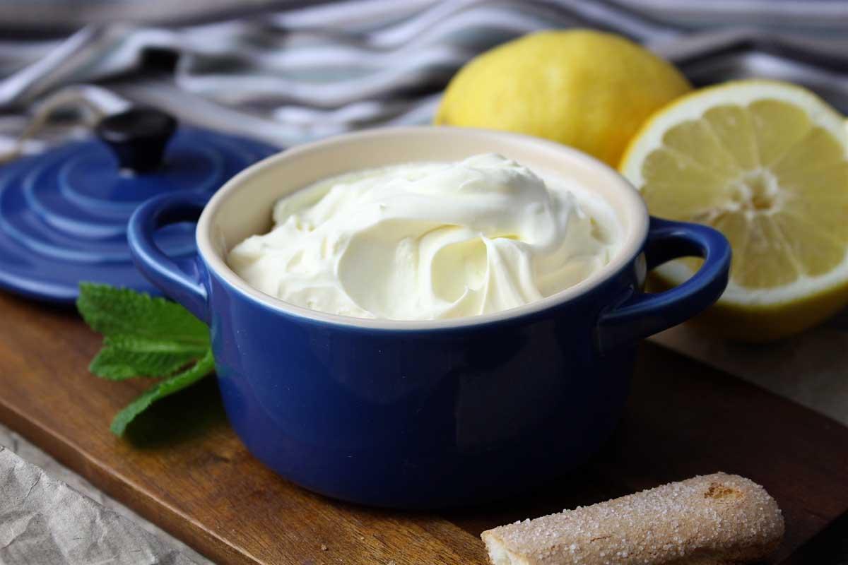 Queso mascarpone sin lactosa casero