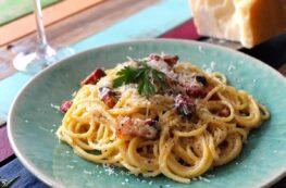 Espaguetis a la Carbonara sin lactosa