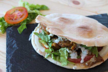 Shawarma o kebab de cordero casero