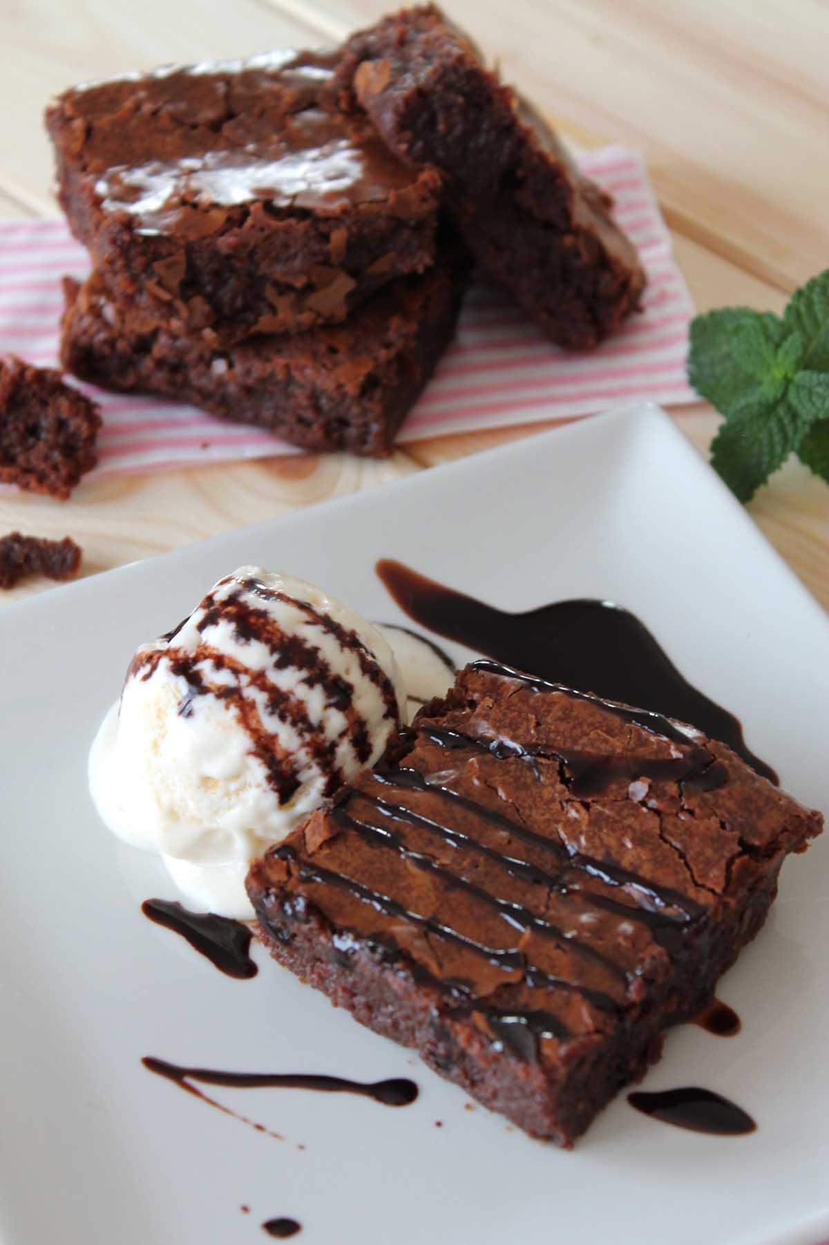 Brownie sin lactosa jugoso
