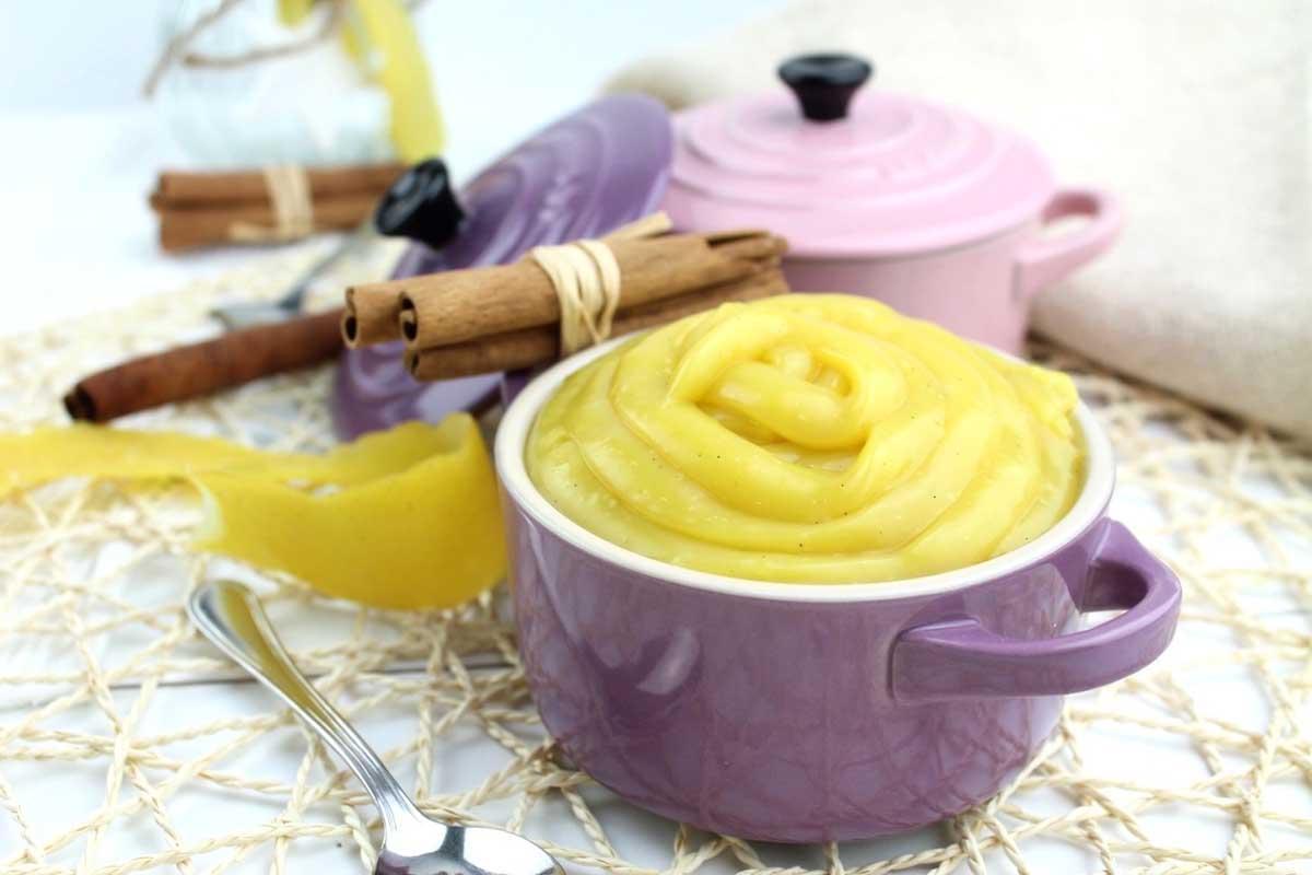 Crema pastelera sin huevo, sin leche y sin gluten light