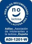 1º blog en ser otorgado el sello de web recomendada por la Asociación Española de Intolerantes a la Lactosa (ADILAC)