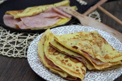 Crepes de jamón york y queso sin lactosa