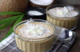 Natillas de coco sin huevos y sin leche vegana
