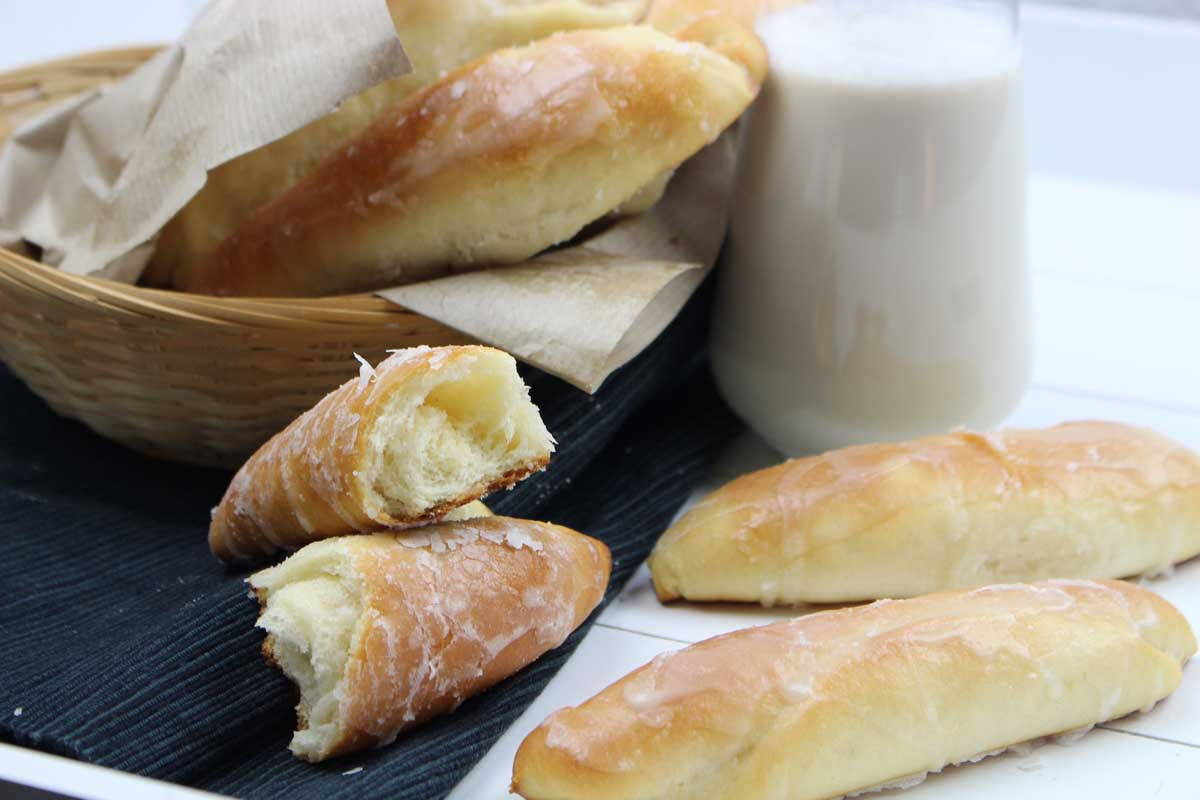 Fartons caseros glaseado de horchata sin lactosa
