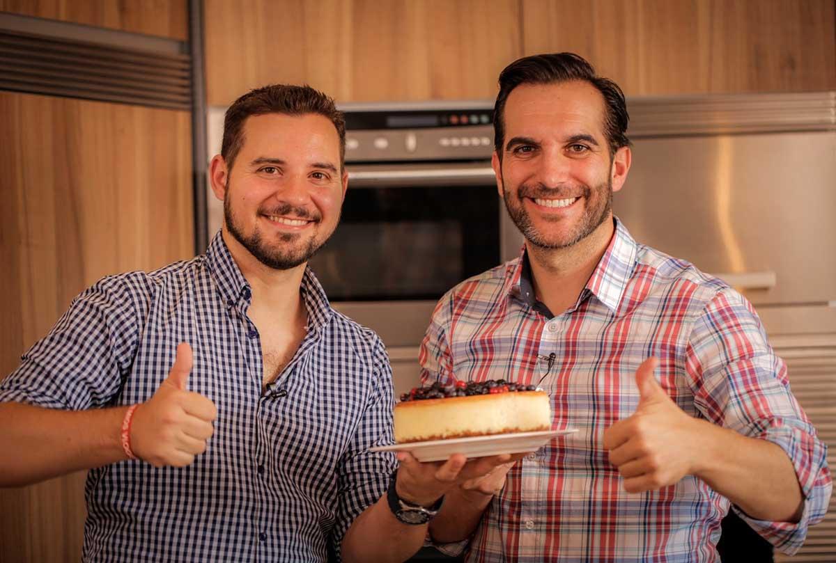 Chef Orielo y Mario Sandoval sin lactosa