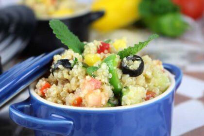 Ensalada de quinoa. Tabulé de quinoa
