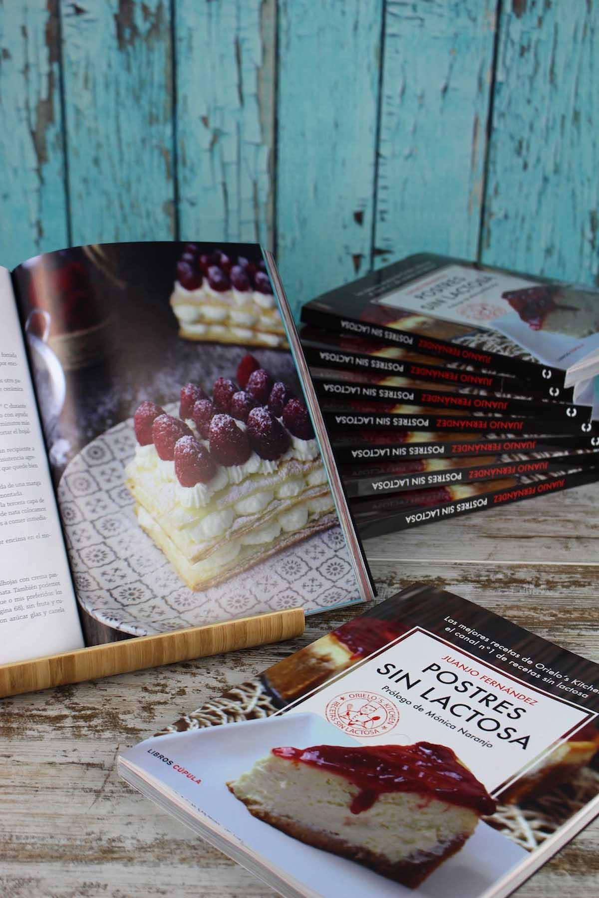 Libro postres sin lactosa. Orielo's Kitchen. Juanjo Fernández
