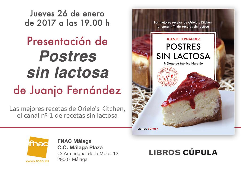 Firma del libro Postres sin lactosa. Juanjo Fernández