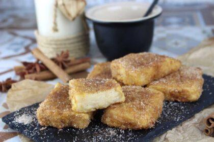 Leche frita sin lactosa (con bebida vegetal)