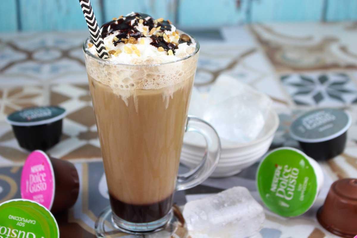Frappuccino sin lactosa | Café frappé helado con chocolate