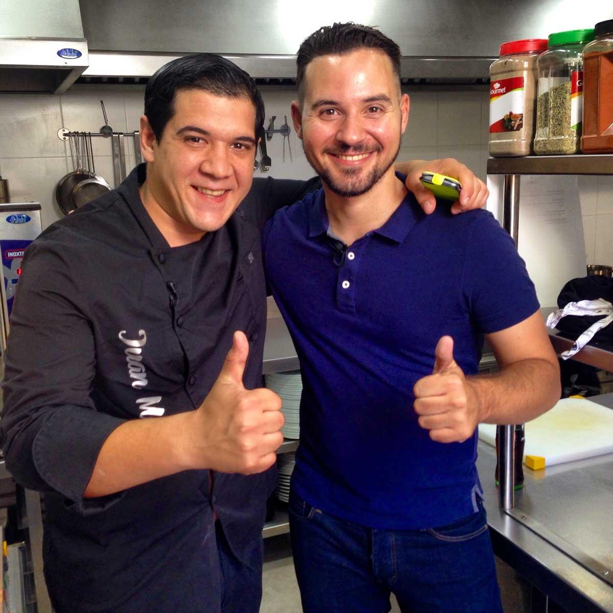 Chef Orielo y Juanma Master Chef. Canal Cocina