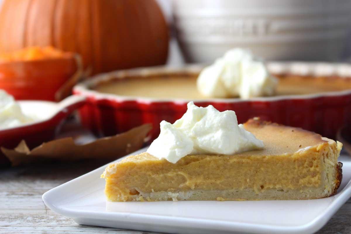 Tarta de calabaza sin lactosa (American Pumpkin pie)