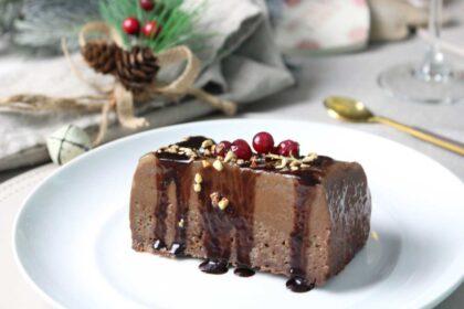 Pudin de chocolate sin leche
