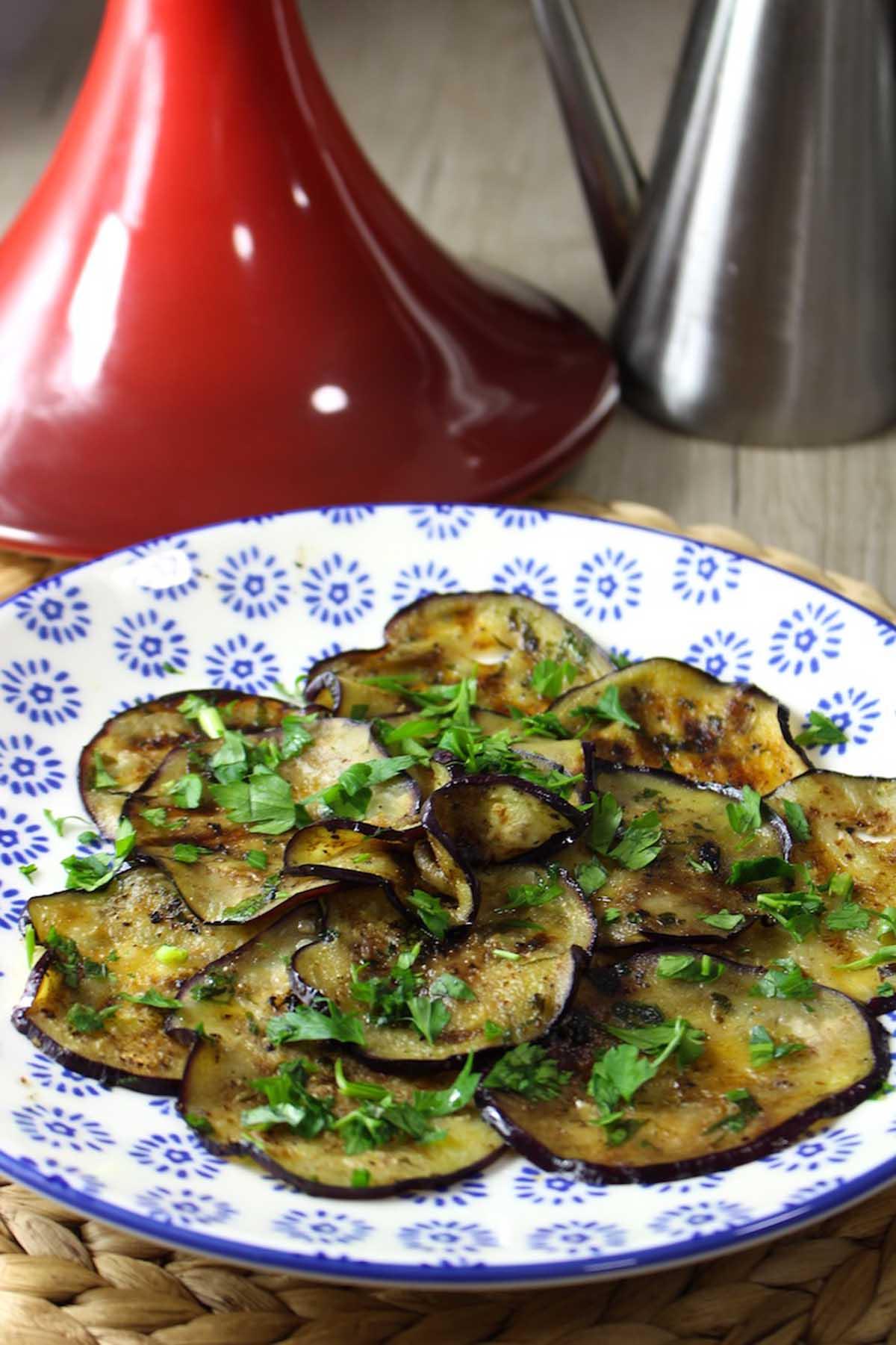 Berenjenas marinadas y asadas estilo marroquí