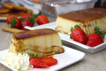 Pudin de torrijas sin lactosa