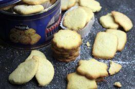 Galletas de mantequilla sin lactosa escocesas