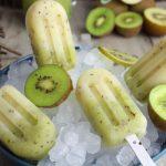 Polos de kiwi sin azúcar y sin lactosa