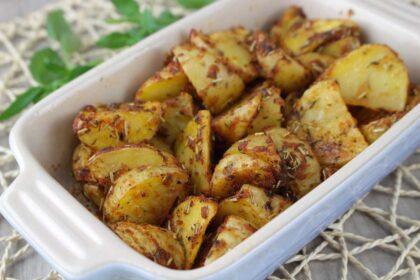 Patatas deluxe o cajún saludables al microondas
