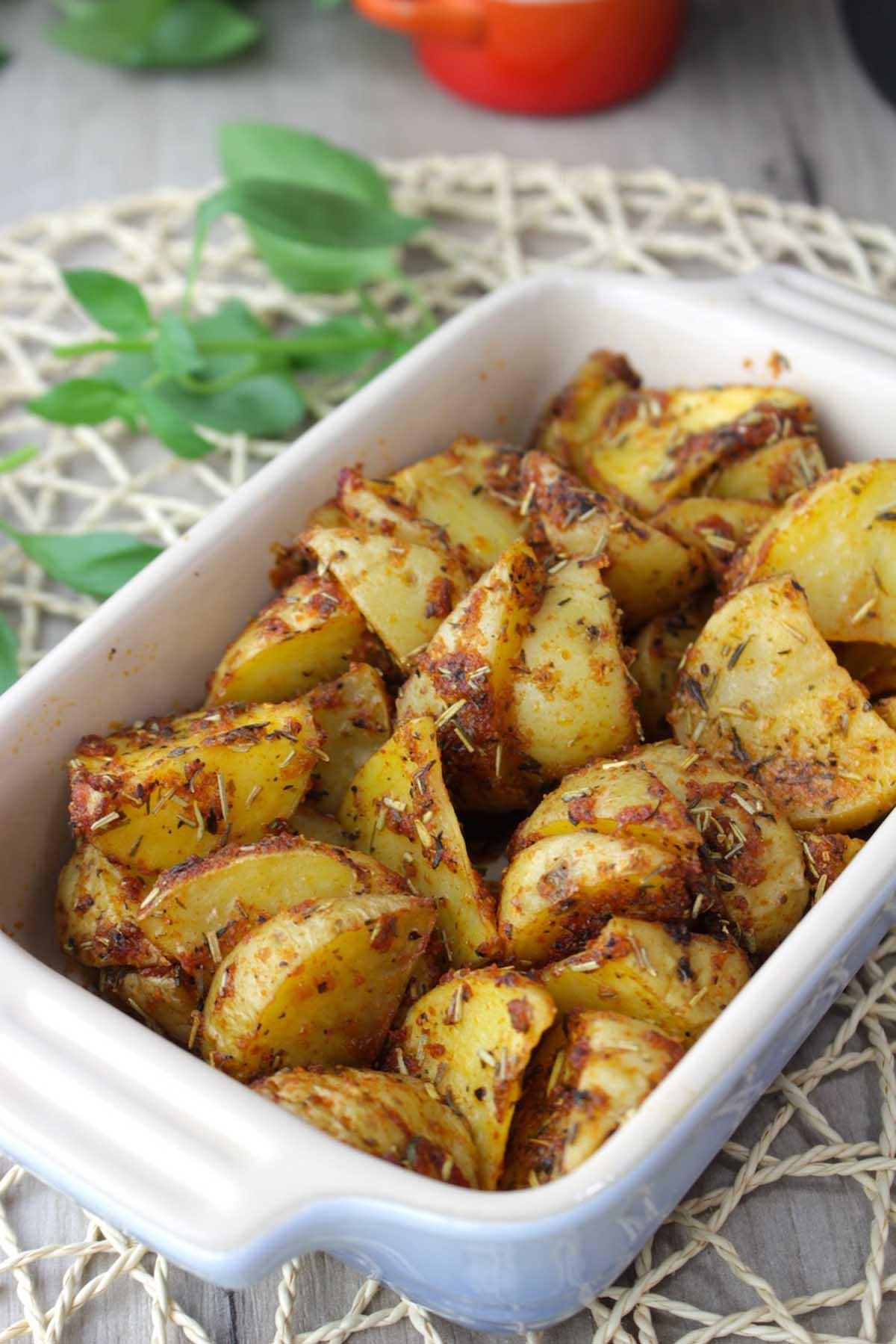 Patatas deluxe o patatas cajún al microondas